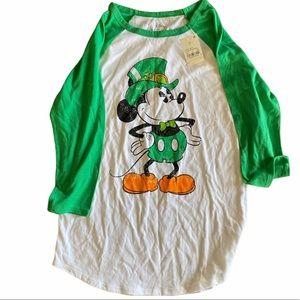 Irish Mickey Mouse Baseball T St. Patrick's Day